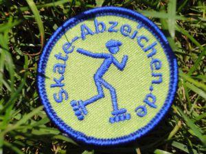 Grünes Skateabzeichen